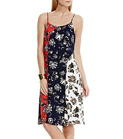 Vince Camuto® Wood Block Floral Dress