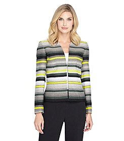 Tahari ASL® Striped Blazer Jacket