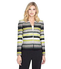 Tahari ASL® Striped Blazer Jacket