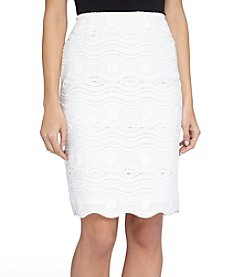 Tahari ASL® Pencil Lace Skirt