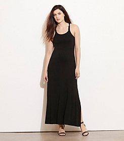 Lauren Ralph Lauren® Plus Size Macrame-Strap Jersey Maxi Dress