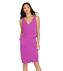 Lauren Ralph Lauren® Petites' Layered Jersey V-Back Dress