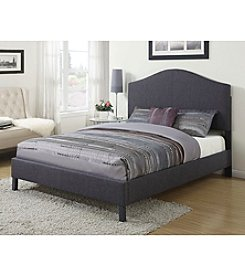 Acme Clyde Grey Linen Queen Bed
