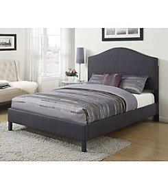 Acme Clyde Grey Linen Queen Bed
