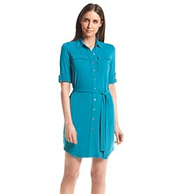 Calvin Klein Petites' Button Front Shirt Dress