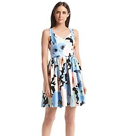 Calvin Klein Petites' Floral Fit And Flare Dress