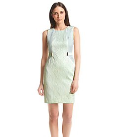Calvin Klein Petites' Belted Patterned Sheath Dress