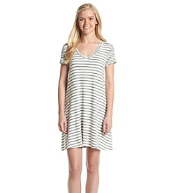 Trixxi® Short Sleeve Striped Cross-Back Dress
