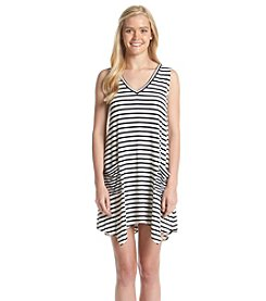 Trixxi® Sleeveless Tie-Back Striped Dress