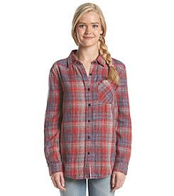 Hippie Laundry Double Gauze Plaid Button Down Shirt