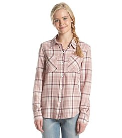 Hippie Laundry Twill Plaid Button Down Shirt