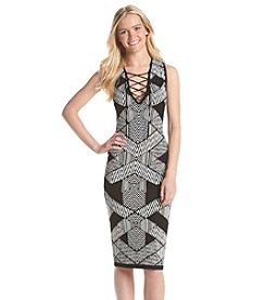 XOXO® Geo Print Knit Dress