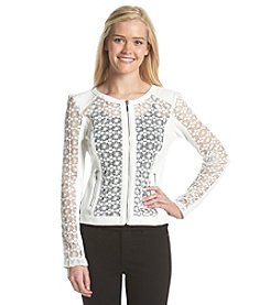 XOXO® Lace Zip Up Jacket