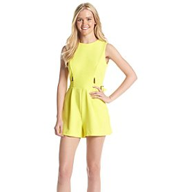 XOXO® Cutout Romper With Belt