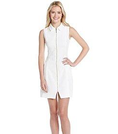 XOXO® Pique Zipper Front Dress