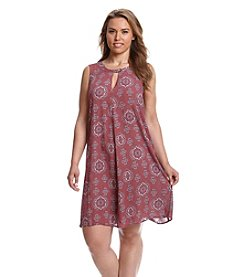 Living Doll® Plus Size Medallion Print Dress