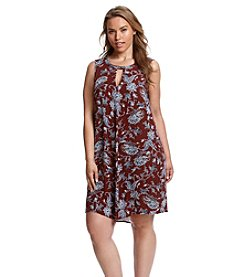 Living Doll® Plus Size Paisley Floral Print Dress