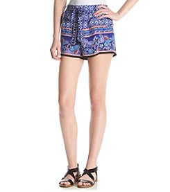 Sequin Hearts® Printed Tie Front Soft Shorts