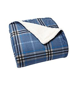 LivingQuarters Plaid Sherpa Throw