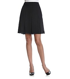 Anne Klein® Pleated Short Skirt