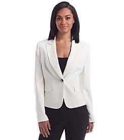 Kasper® Stripe One Button Jacket