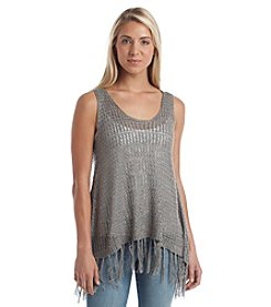 Democracy Open Stitch Tank Sweater