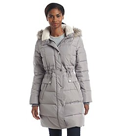 Kenneth Cole® Faux Fur Trim Hooded Anorak