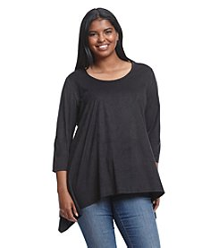 Chelsea & Theodore® Plus Size Solid Handkerchief Top