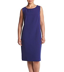 Kasper® Plus Size Stretch Crepe Sheath Dress