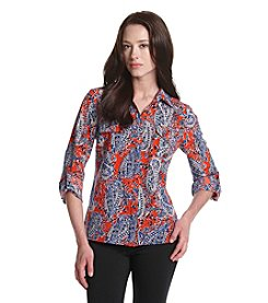 Notations® Petites' Printed Woven Top