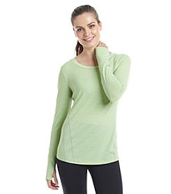 Exertek® Petites' Seamed Front Striped Top