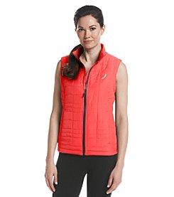 Exertek® Petites' Solid Color Full Zip Wave Quilted Vest
