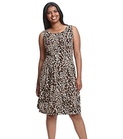 Gabby Skye® Plus Size Animal Print Dress