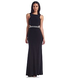 Xscape Cutout Beaded Dress