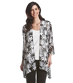 Laura Ashley® Petites' Palm Print Kimono