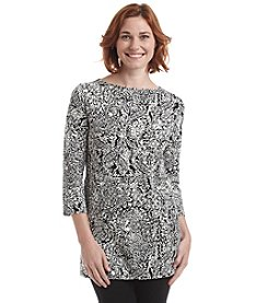 Laura Ashley® Petites' Printed Boatneck Tunic