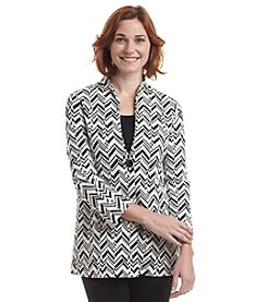 Laura Ashley® Petites' Textured Chevron Jacket