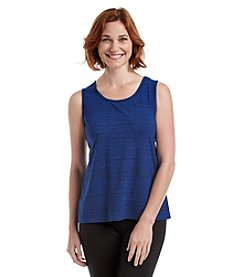 Laura Ashley® Petites' Textured Stripe Print Tank