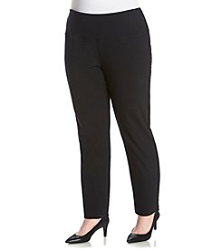 Laura Ashley® Plus Size Solid Slim Leg Pants