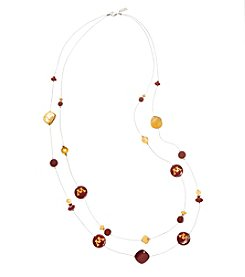accessory PLAYS™ NCAA University Of Minnesota Two Row Illusion Shell Stations Necklace