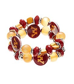 accessory PLAYS™ NCAA University Of Minnesota Two-Row Beaded Shell Stretch Bracelet