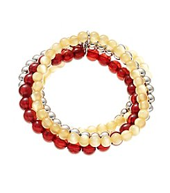 accessory PLAYS™ NCAA University Of Minnesota Five Row Stretch Bracelet