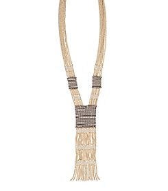 Relativity® Goldtone Long Seed Bead Necklace