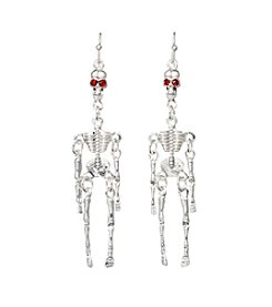 Studio Works® Silvertone Skeleton Drop Earrings