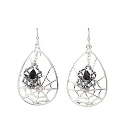 Studio Works® Teardrop Spiderweb Earrings