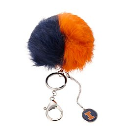 accessory PLAYS™ NCAA® University Of Illinois Two-Tone Puff Charm Key Ring