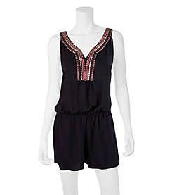 A. Byer Novelty Trim Romper With Tie Back