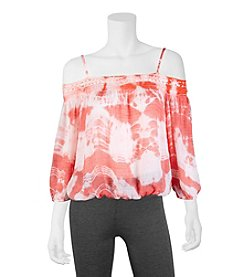 A. Byer Tie-Dye Off The Shoulder Top