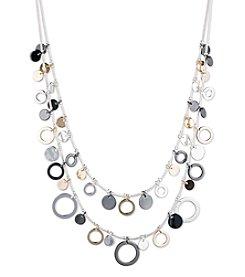 Nine West® Tri Tone Two Row Shaky Necklace