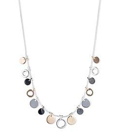 Nine West® Tri Tone Shaky Frontal Necklace